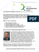 Sydney Development Circle Newsletter Feb