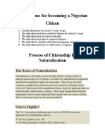 Process of Citizenship by Naturalization