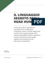 Il Linguaggio Degli Head Hunters