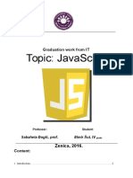 Elmir Graduation JavaScript