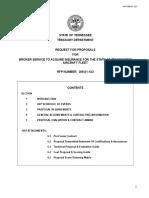 Aircraft Fleet Insurance RFP Sample