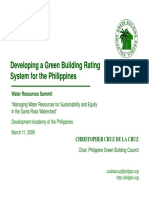 Developing a Green Bldg Rating System for the Phils
