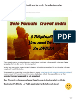 Travel India - 8 Destinations for Solo Female Traveller Infographic Inside