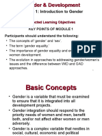 PPTs Module on Gender and Development