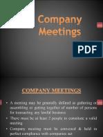 8. Company Meetings
