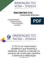 Orientação para o TCC da Facisa Bh