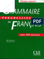Grammaire Progressive de Francais Avancc3a9