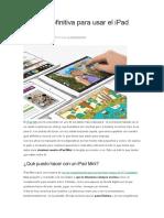 La Guía Definitiva Para Usar El iPad Mini