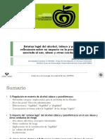 Estatus legal del Alcohol, tabaco y psicofármacos