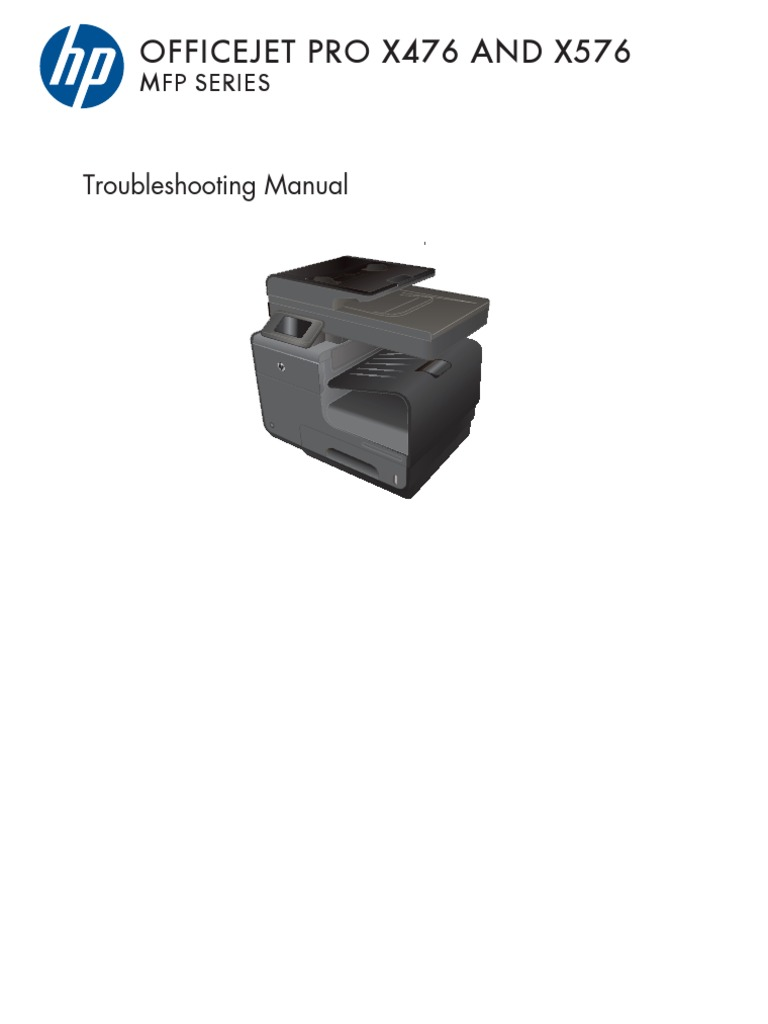 HP Officejet Pro X476 X576 Troubleshooting   Image Scanner