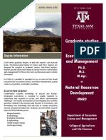 TAMU ESSM Graduate Flyer