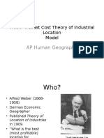 weber s least cost theory of industrial location