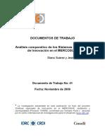 Analisis Comparativo de Los SNI en El MERCOSUR