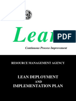 RMA Implementation Plan