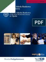 Informator 2010 - Studia podyplomowe - Wyższa Szkoła Bankowa we Wrocławiu i w Opolu
