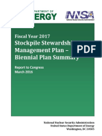 FY17 Stockpile Stewardship and Management Plan