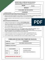 Boleta de Pago de Visa Eeuu. Ds160