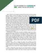 DIREITO PENAL ECONÔMICO E A LAVAGEM DE DINHEIRO