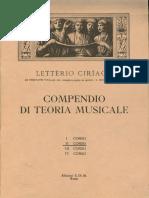 II Corso - Compendio Di Teoria Musicale - Letterio Ciriaco