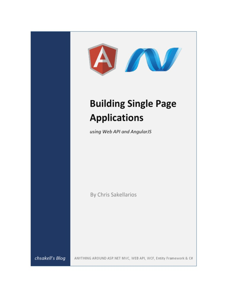 Building Single Page Applications Using Web API and