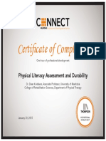 physical literacy assessment and durability