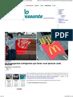 24 Propagandas Inteligentes Que Farão Você Apreciar Cada Detalhe