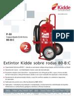 Extintor Pó Rodas 80bc