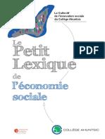 Le Petit Lexique de l'economie Sociale