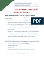 SQL Server (TIUMD 2010_2011) - Prezentare Curs