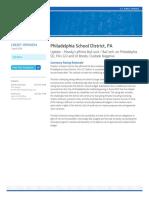 Moody%27s Philadelphia School District%2cPA FINAL Rating Report
