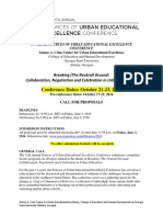 Sources of Urban Educational Excellence Call  for Proposals2016