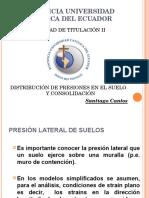 Consolidación y Distribución de Presiones