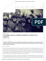 El Soldado Que Fue a Malvinas También Es Víctima de La Dictadura
