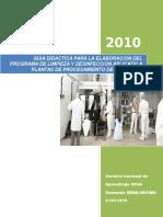 Guia Didactica Para La Elaboracion Del Programa de Limpieza y Desinfeccion Aplicado a Plantas de Procesamiento de Alimentos