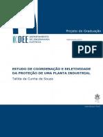 Estudo de Coordenação e Seletividade Da Proteção de Uma Planta Industrial - Tallita