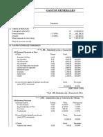 Tabla de costos indirectos