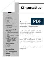 Title of Kinematics