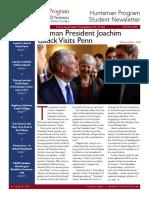 huntsman program newsletter fall 2015 2