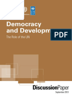 Democracy and Development the Role of the UN PDF