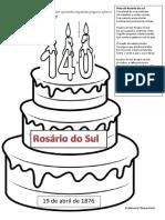 Aniversário de Rosário Do Sul