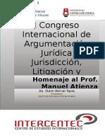 Libro Digital de Ponencias i Congreso Internacional de Argumentación Jurídica 2016