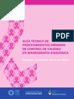 Guia Tecnicos en Mamografia Analogica Cancer de Mama