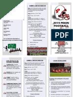 2015 Youth Camp Football Brochure