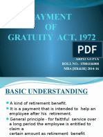 Payment of Gratuity Act, 1972.