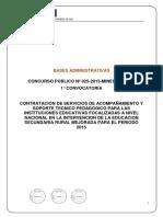 BASES CONCURSO PUBLICO 025 - 2015 - MINEDU.pdf