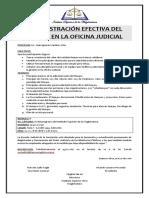 Comunicado - Administración Efectiva Del Tiempo en La Oficina Judicial