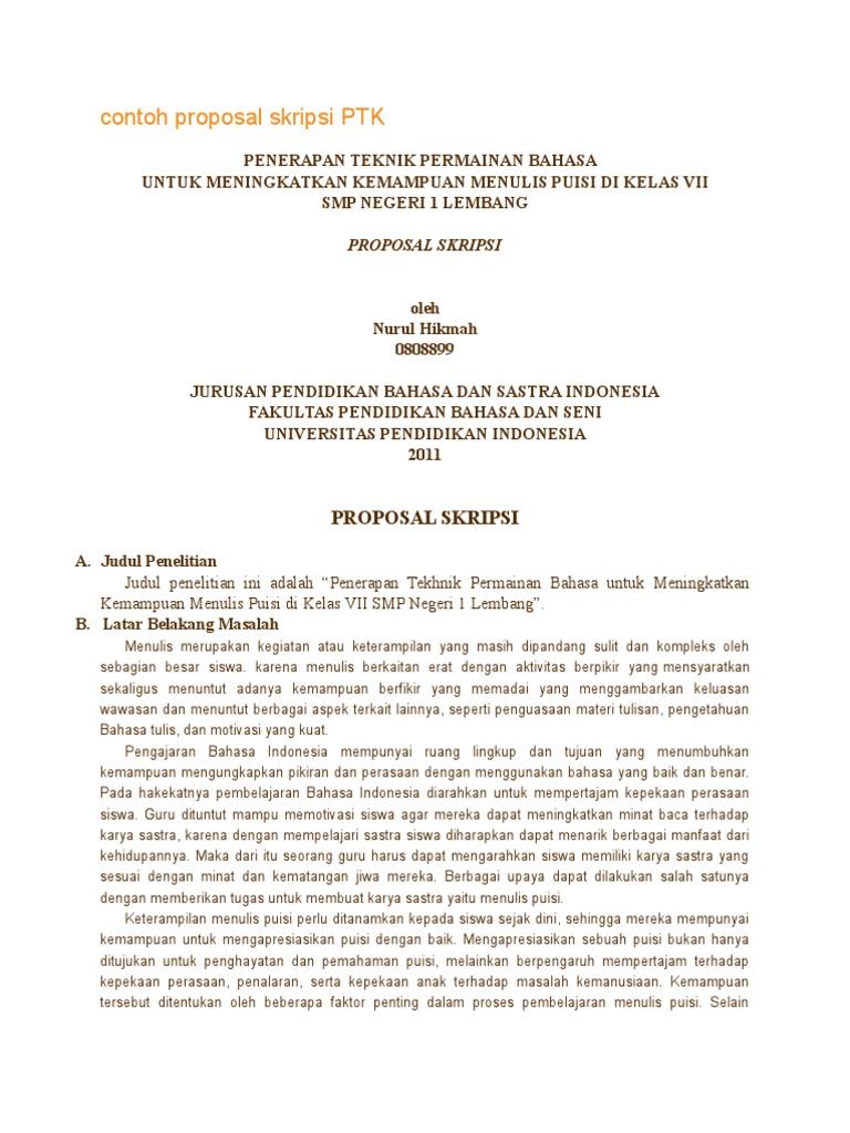 Contoh Proposal Skripsi Ptk Docx