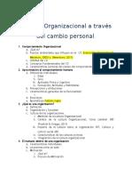 Cambio Organizacional a Través Del Cambio Personal