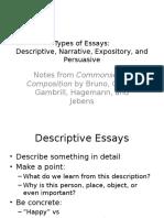 1a Types of Essays CC Bruno Et Al