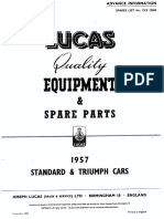 Lucas 1957 Standard-Triumph Spare Parts